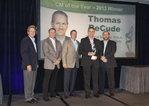 Thomas BeCude, second from right, has been named Rite Aid's Category Manager of the Year for 2013. From right, CFO and CAO Frank Vitrano, President and COO Ken Martindale, Chairman and CEO John Standley, BeCude and EVP of Merchandising Tony Montini.